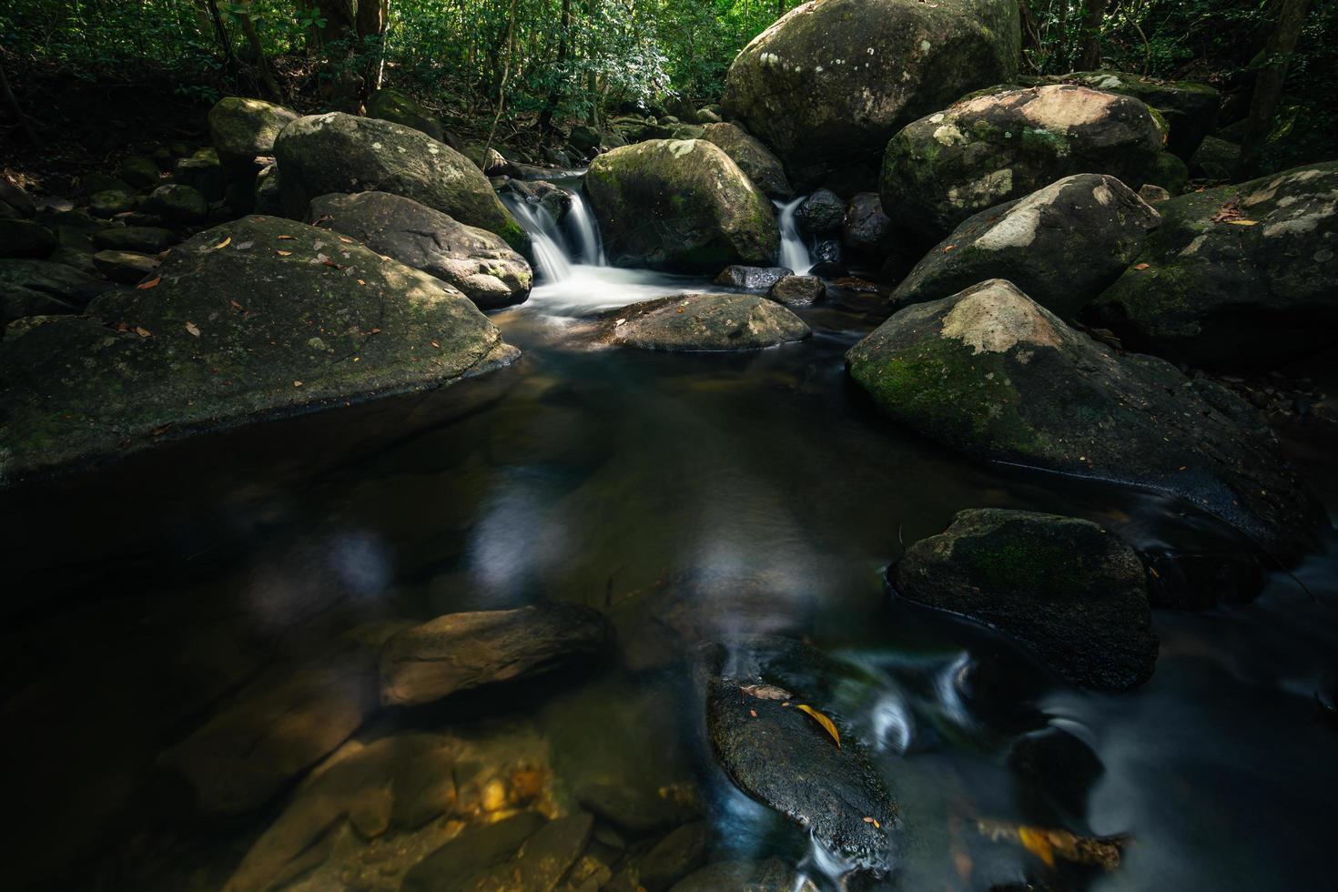 Ruisseau à la cascade de khlong pla kang photo