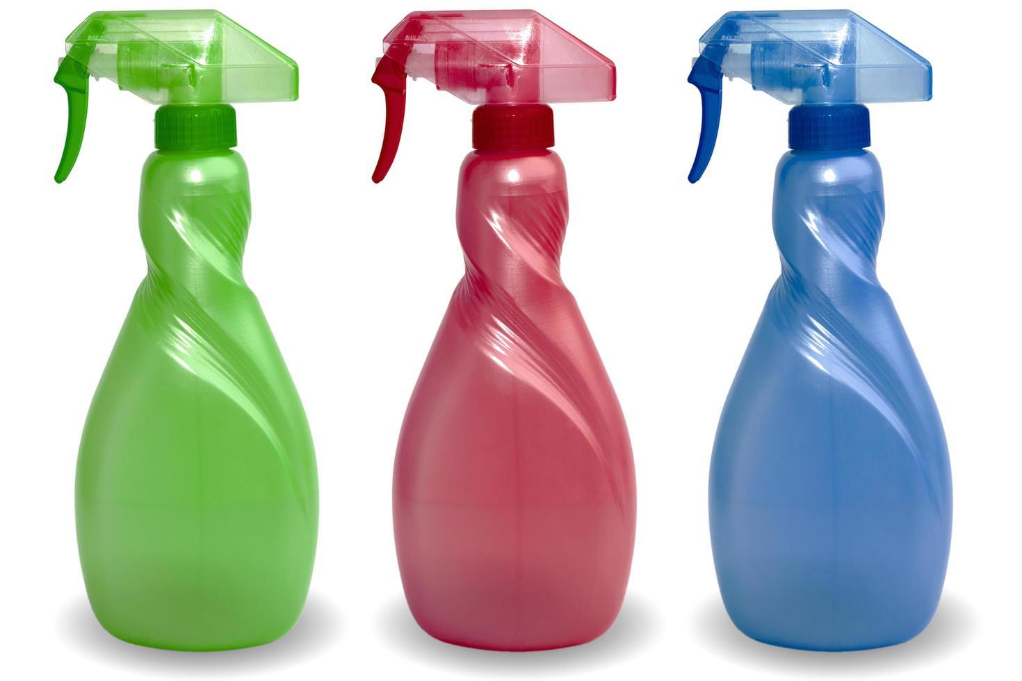 bouteille en plastique pour produits liquides photo