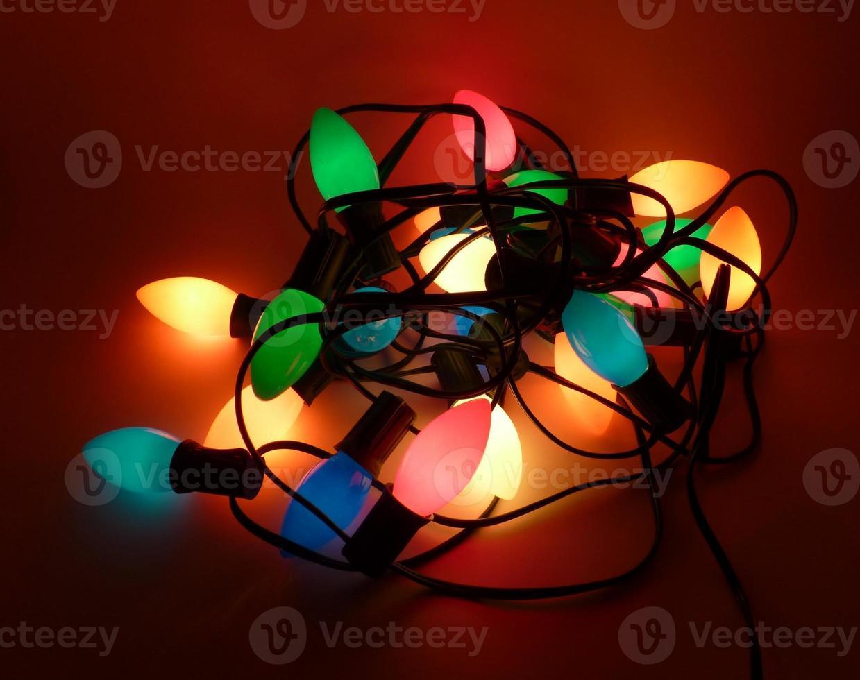 lumières de Noël emmêlées photo