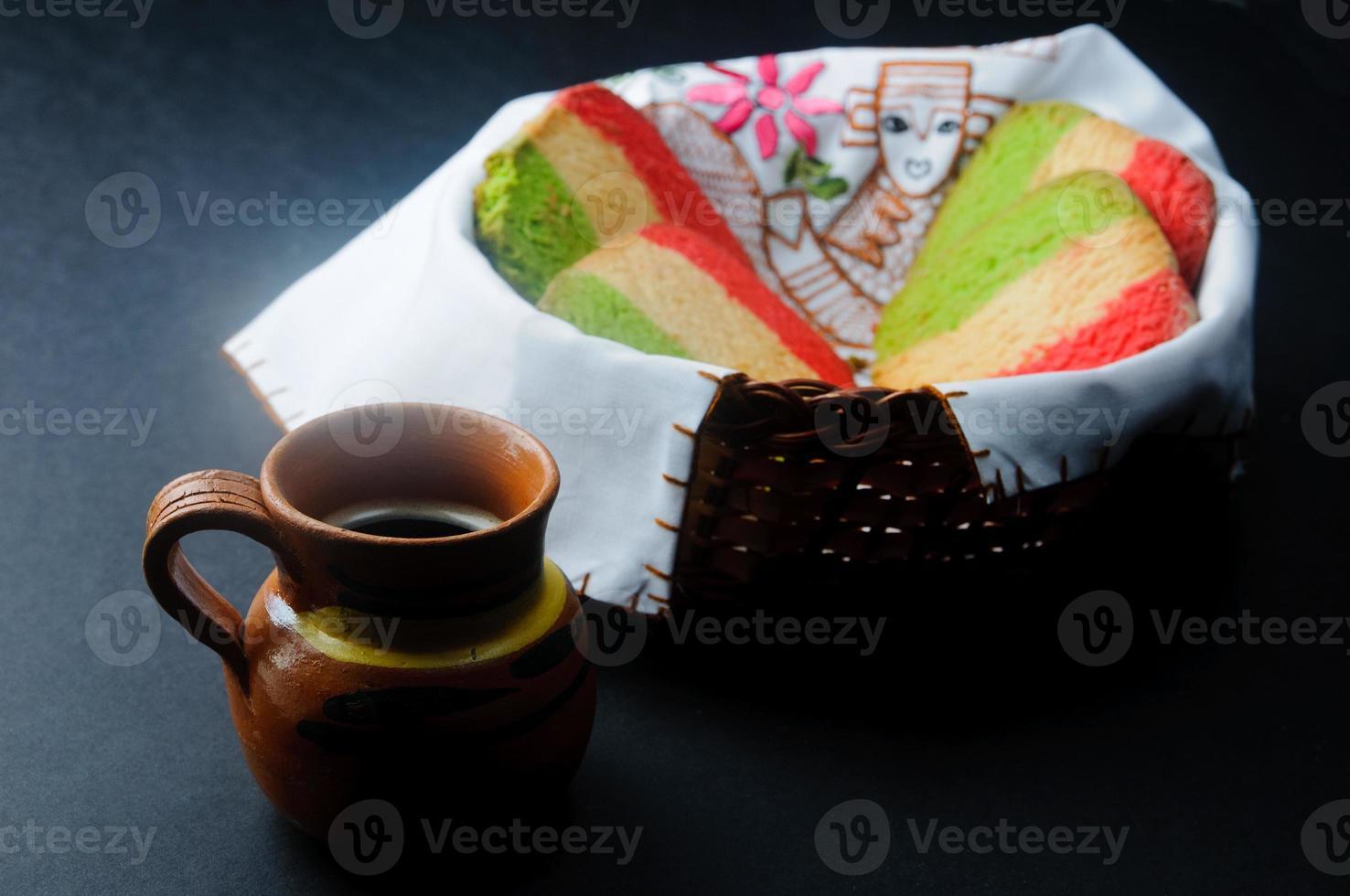 pain mexicain avec café photo