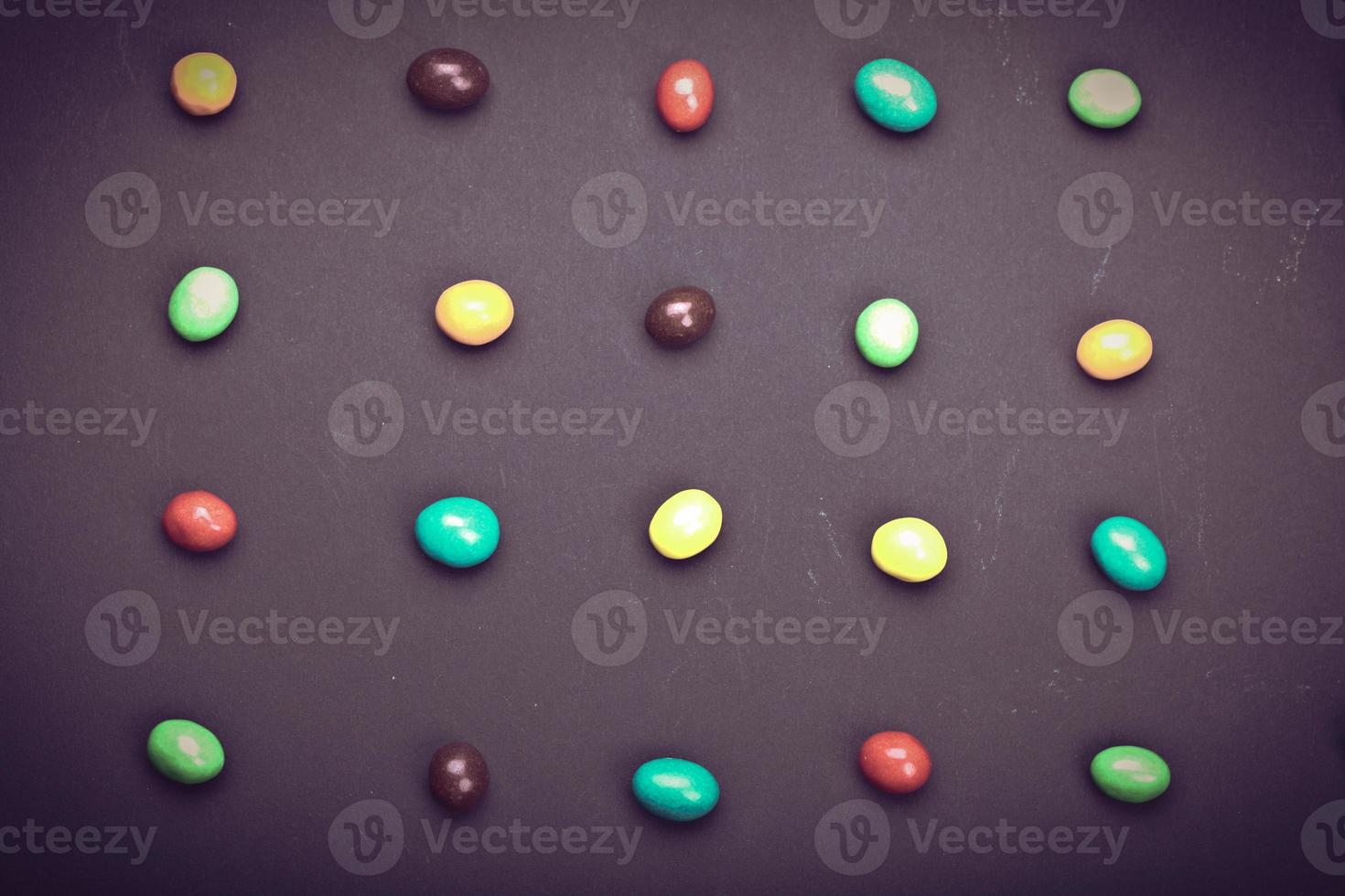 bonbons ronds de différentes couleurs photo