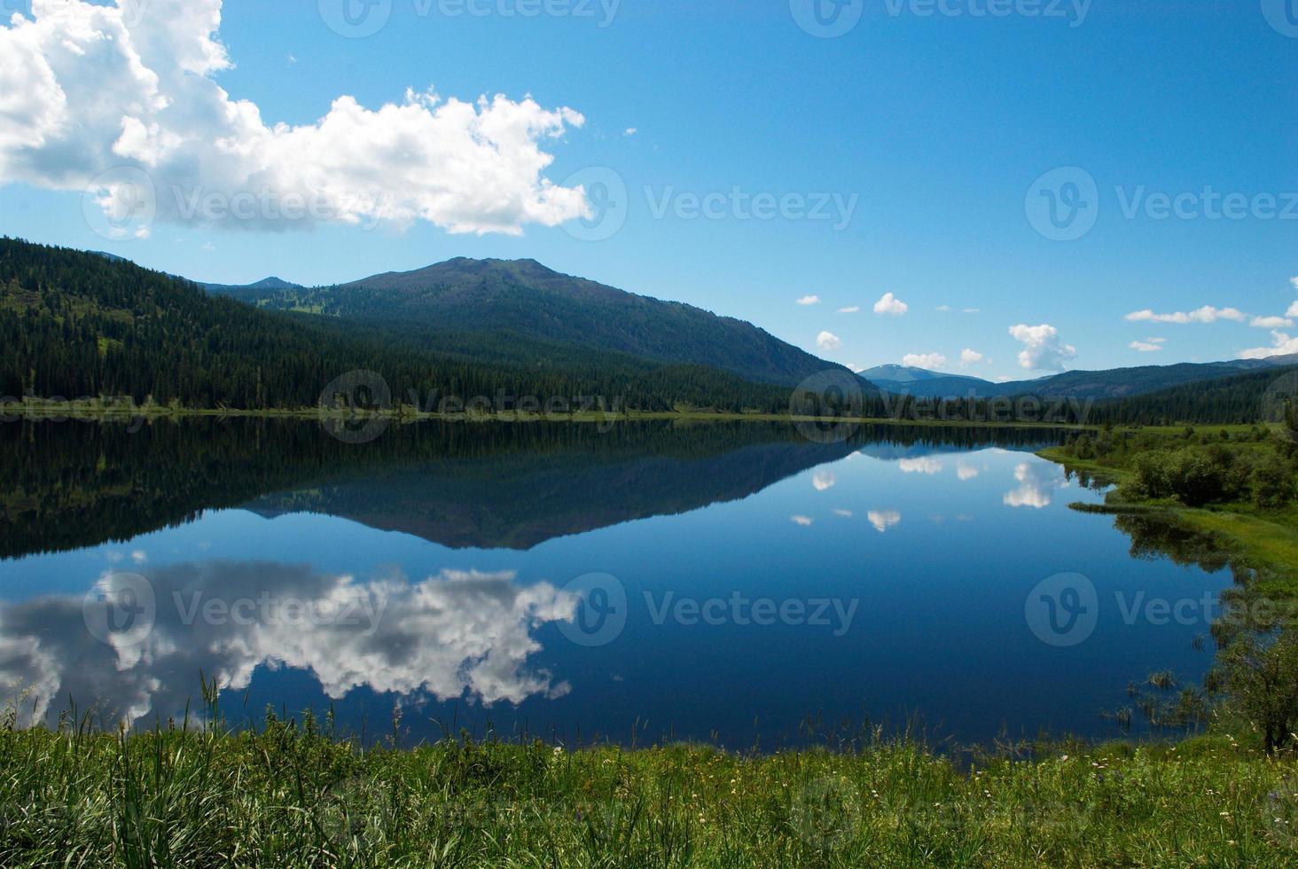 reflet dans le lac photo
