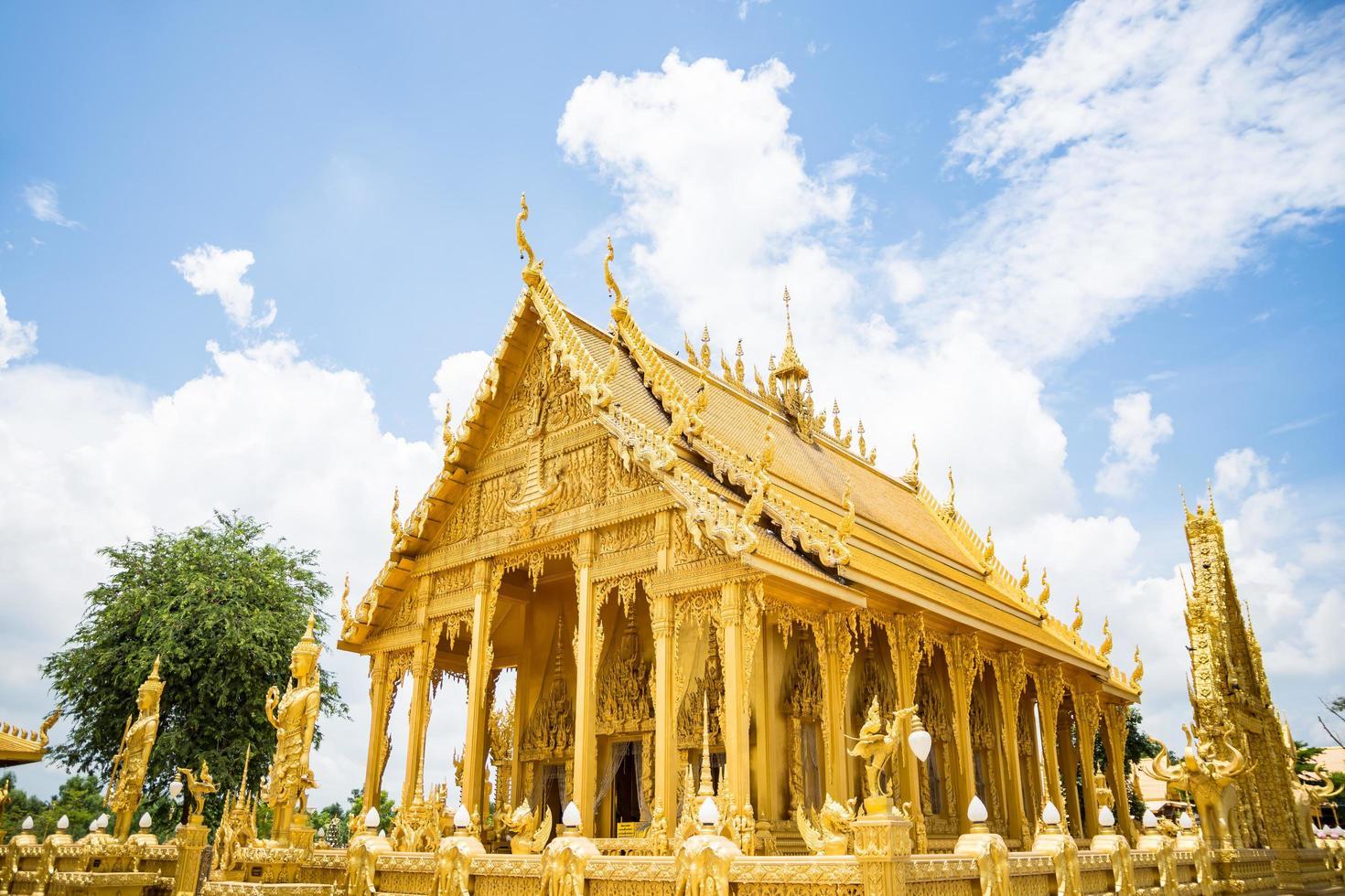 le temple d'or de wat paknam jolo photo