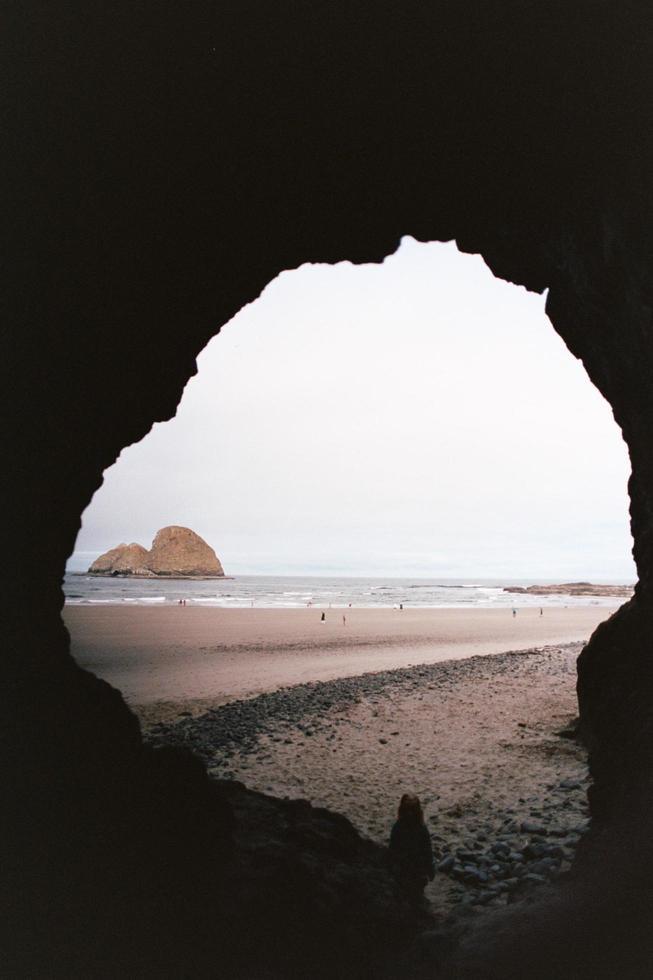 plage d'une crique photo