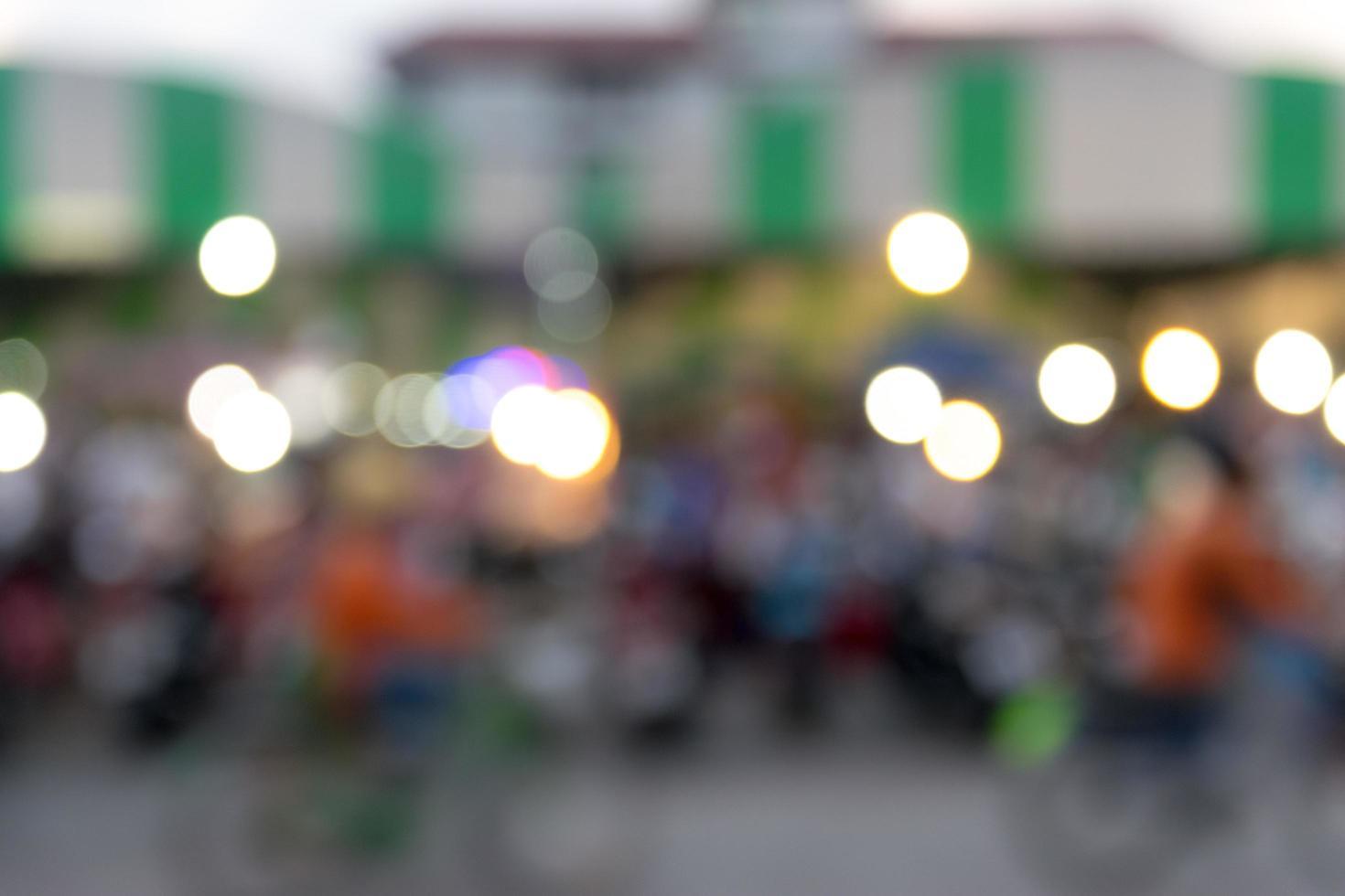 fond de lumières bokeh floue photo