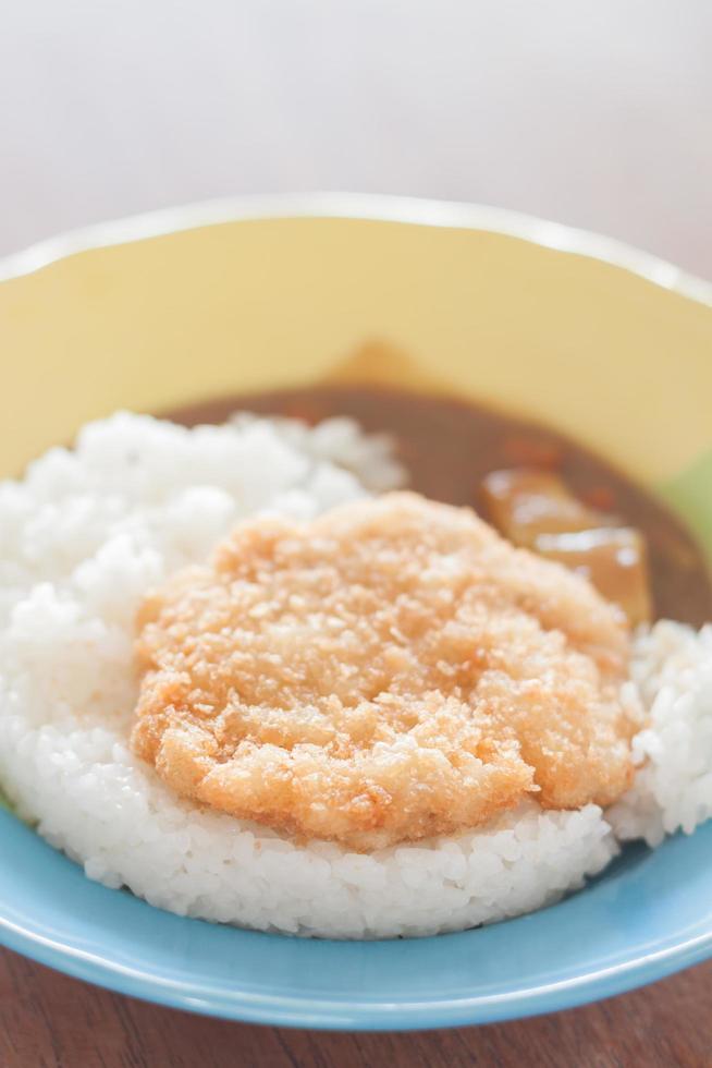 porc frit garni de riz photo