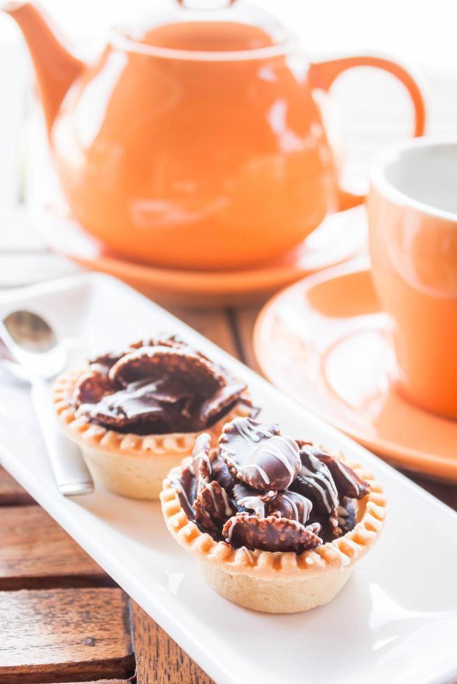 service à thé orange et tartes photo