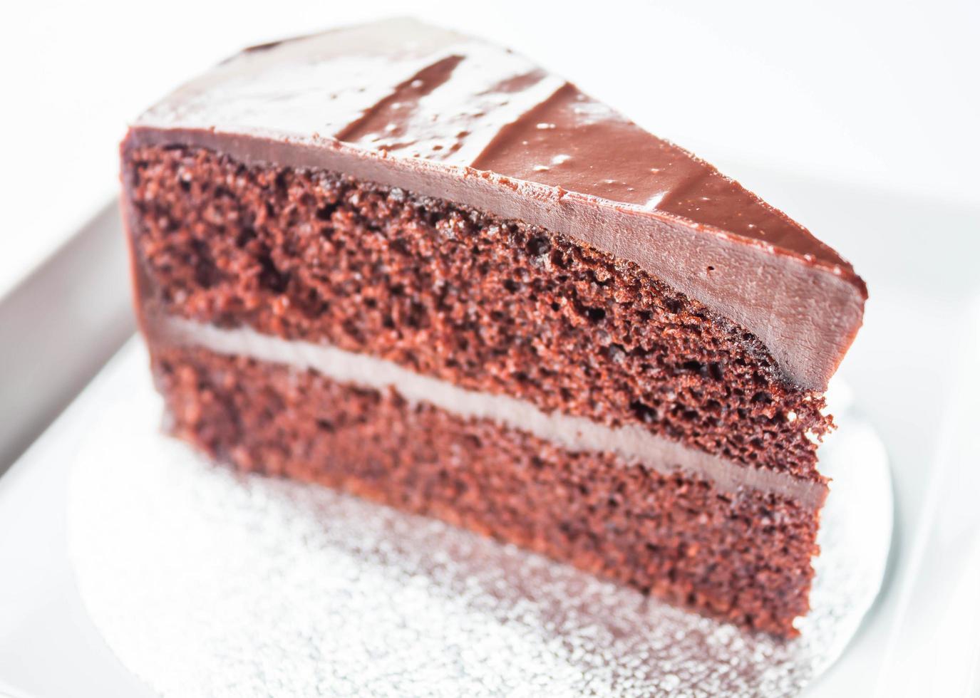 morceau de génoise au chocolat photo