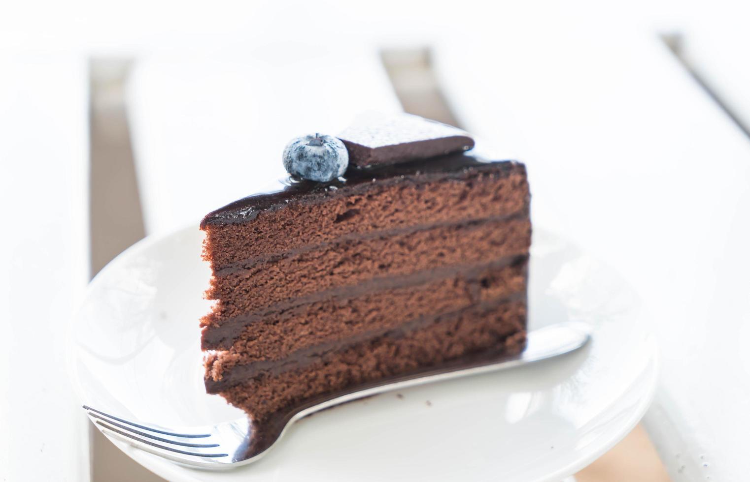 gâteau au chocolat fondant photo