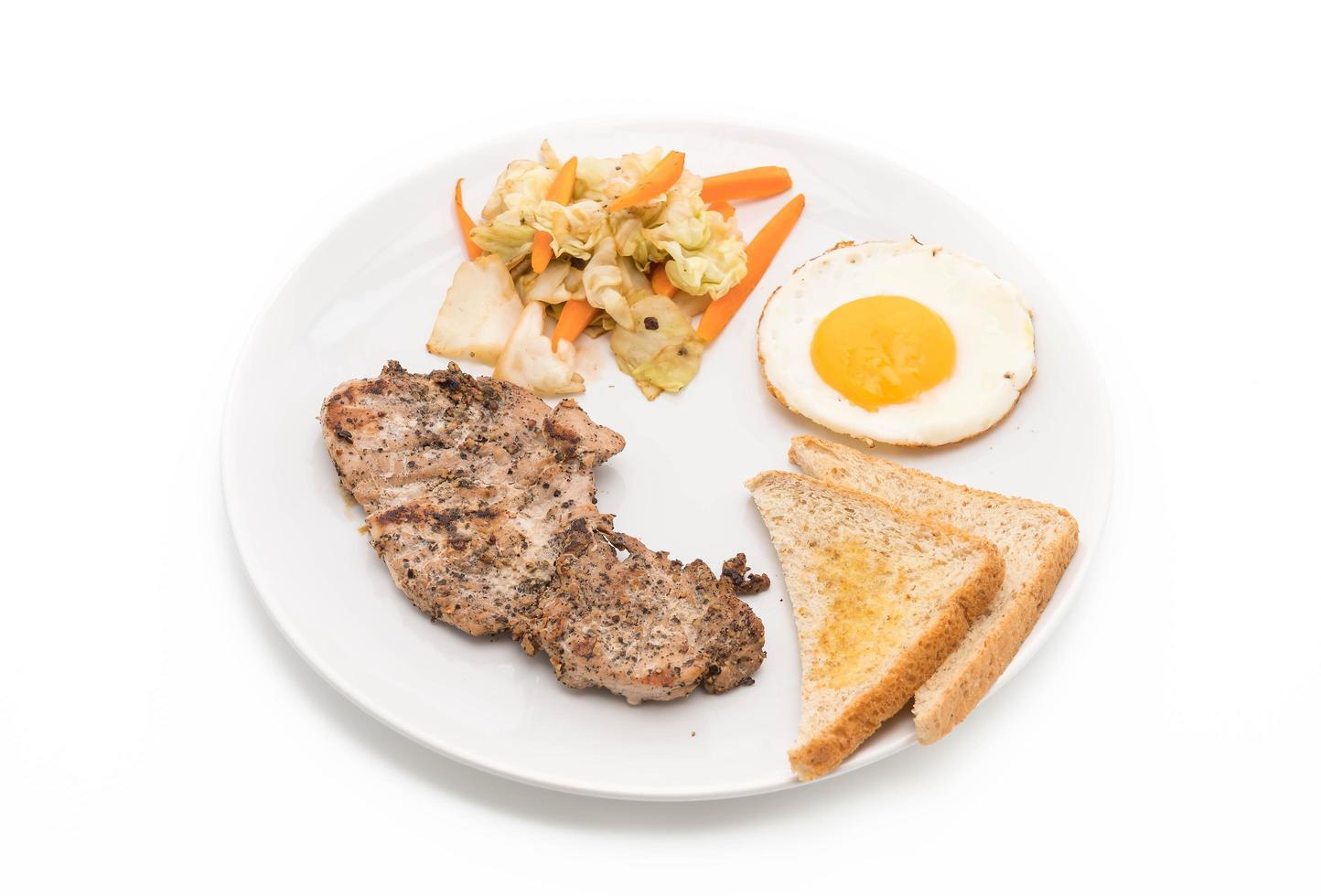 steak de porc grillé photo