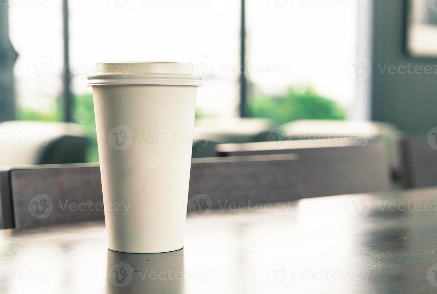 tasse à café avec espace copie sur une table photo