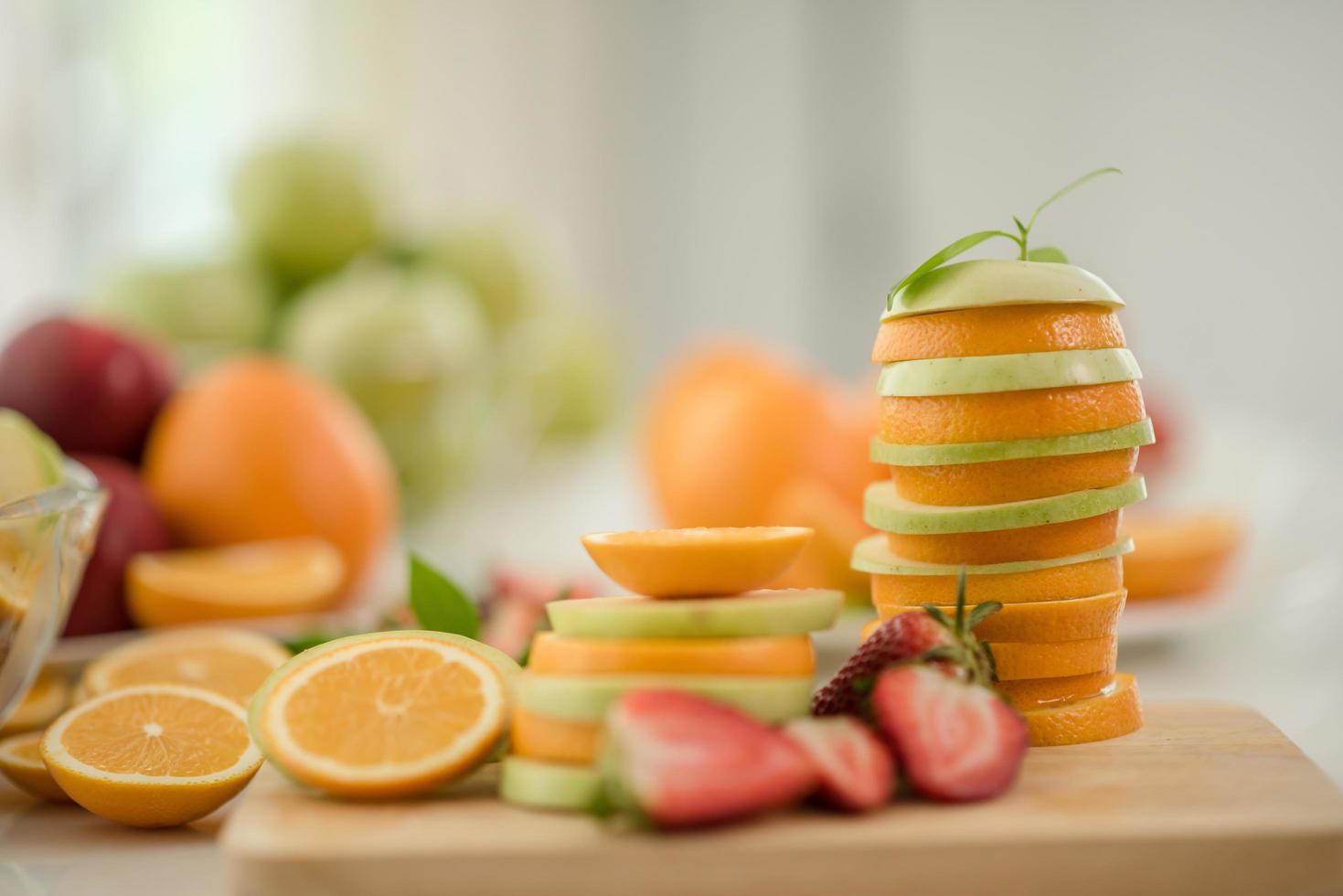 divers fruits frais photo