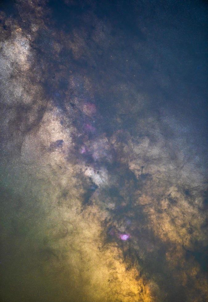 beau coucher de soleil avec des étoiles photo
