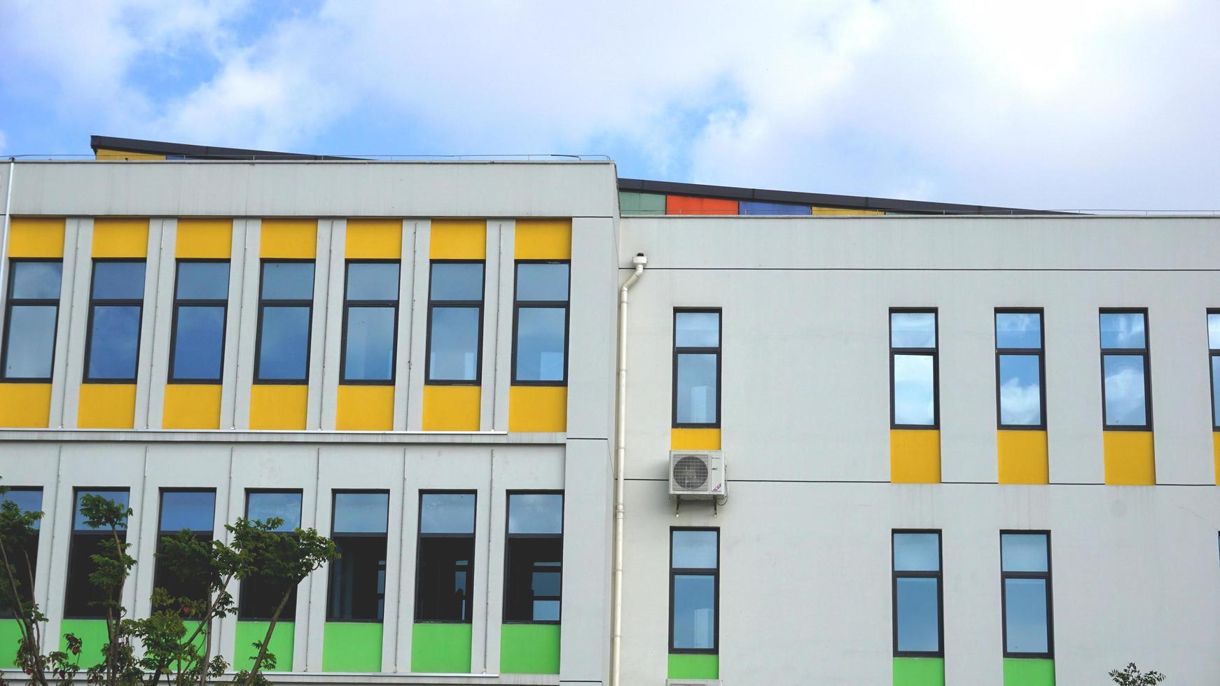 Ville de Changshu, province de Jiangsu, 13 novembre 2020 - murs colorés d'une école maternelle photo