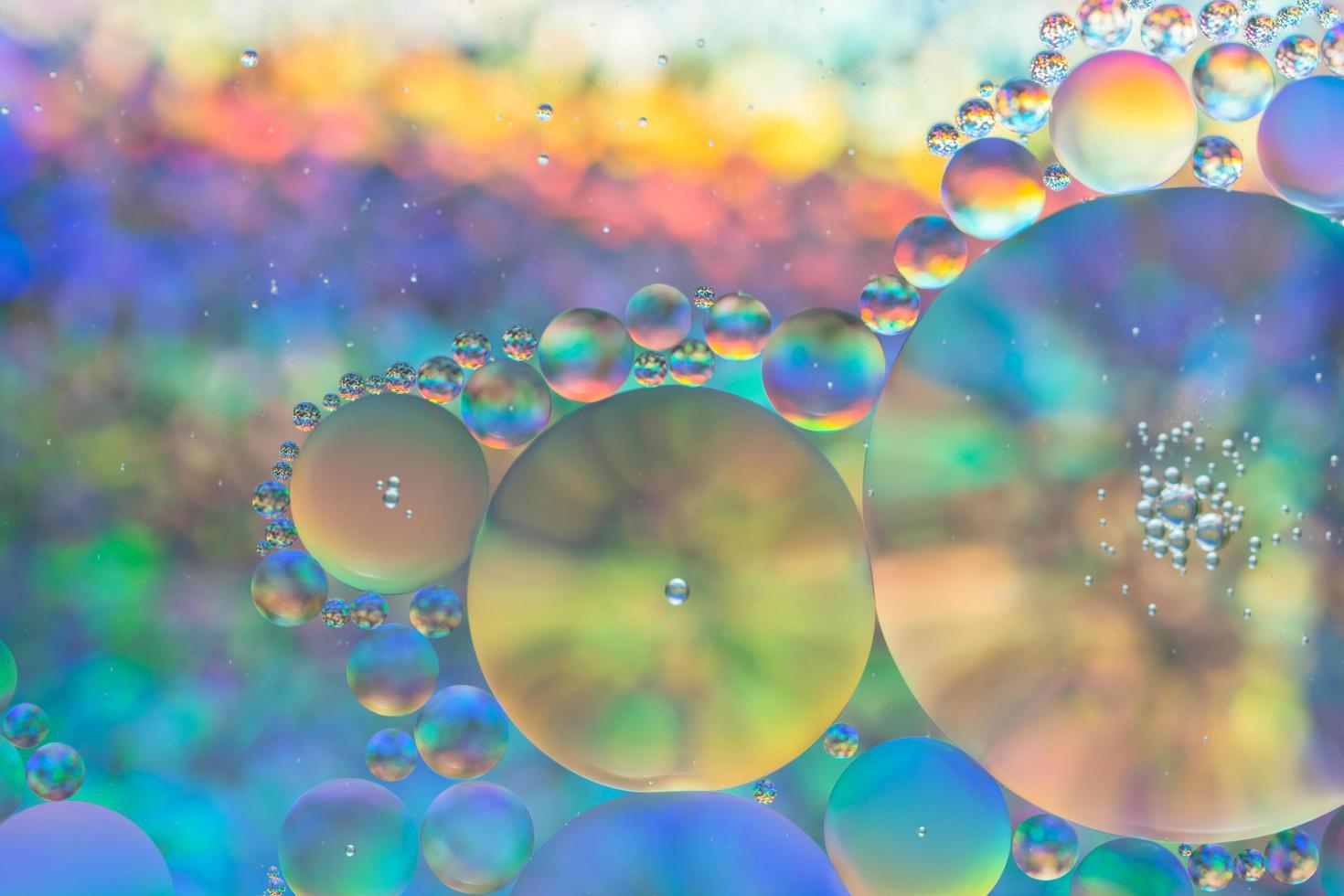 eau et huile, fond abstrait photo