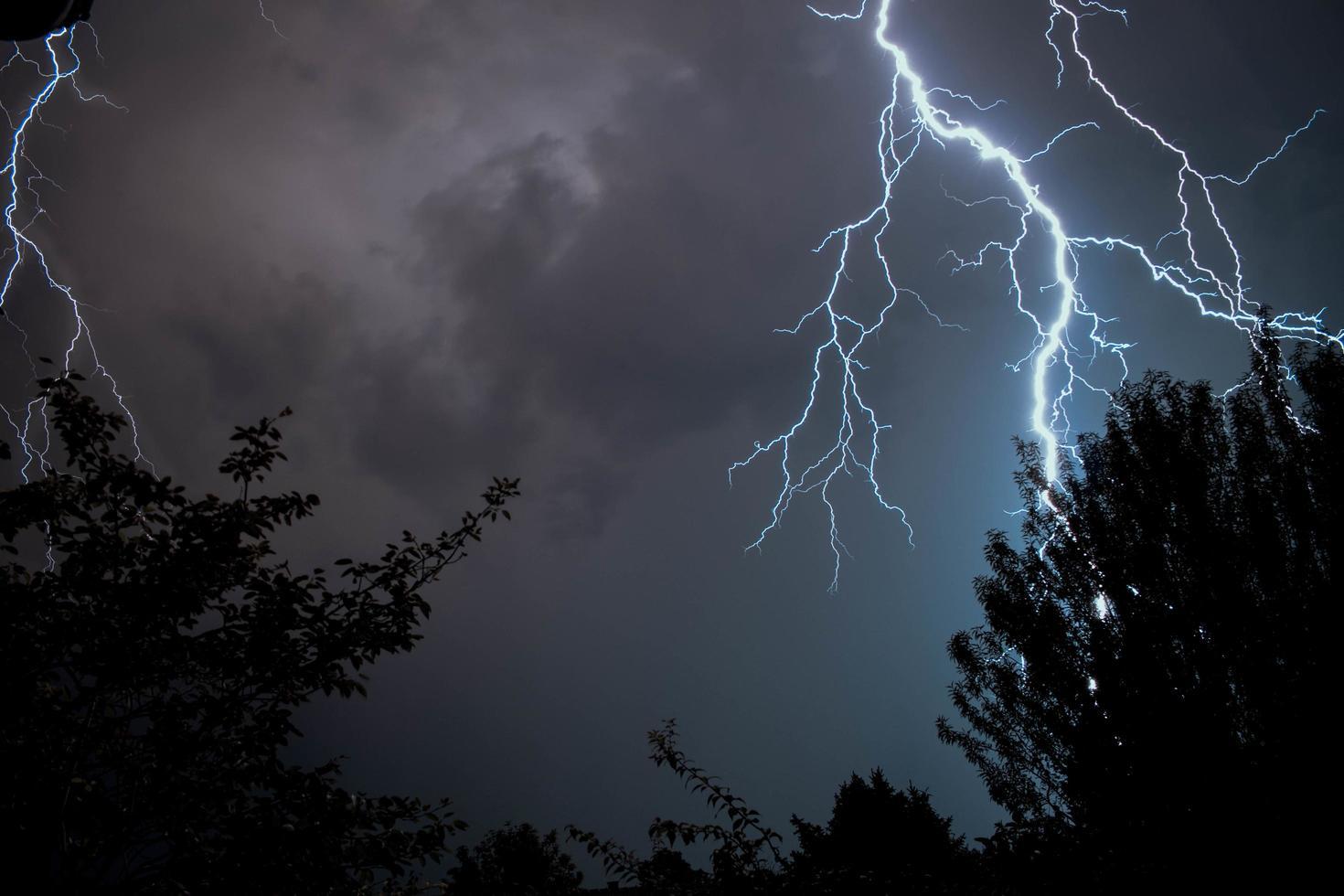 coup de foudre pendant un orage photo