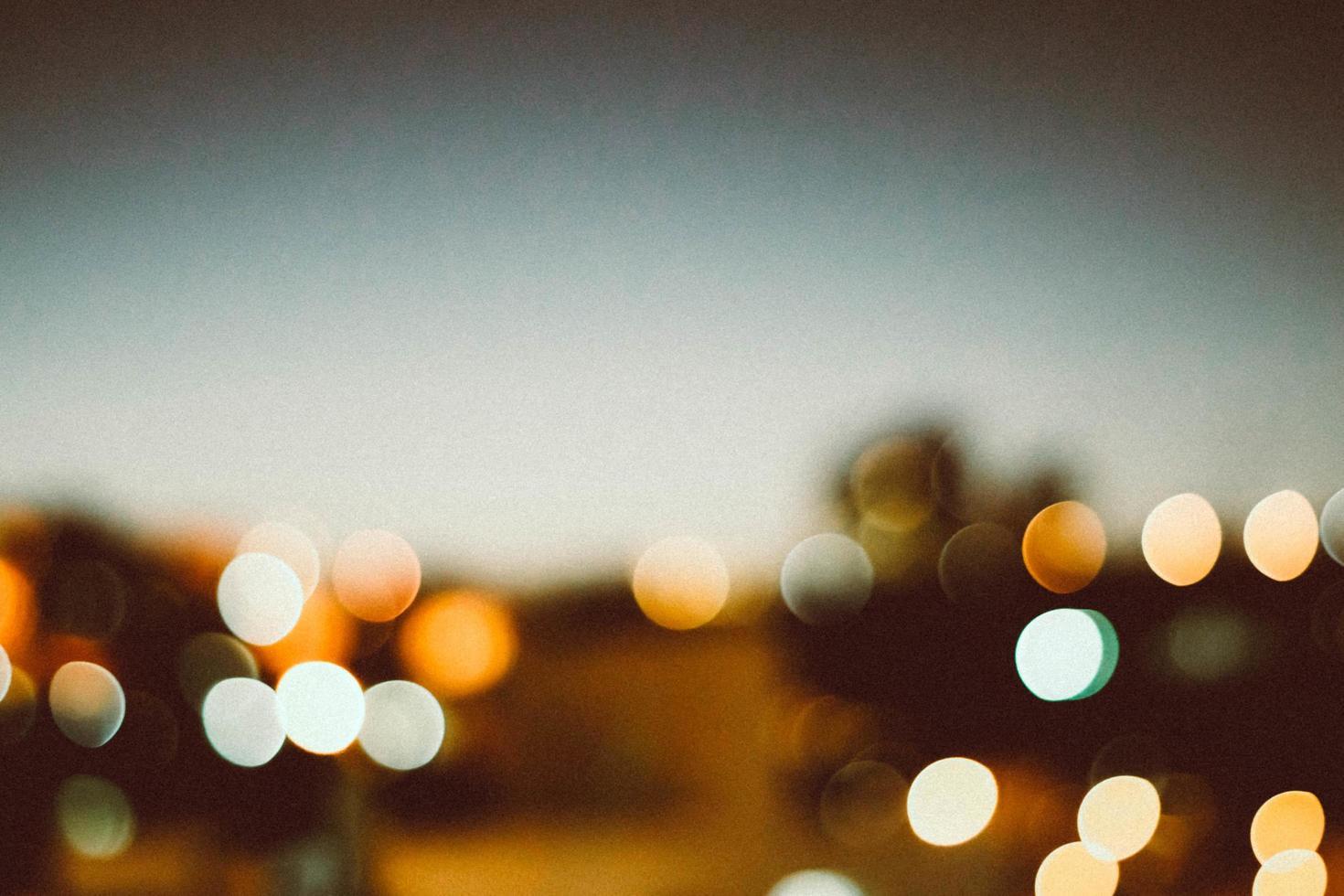 lumières de la ville de bokeh photo
