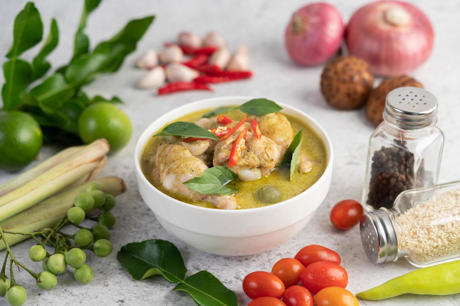 poulet au curry vert photo