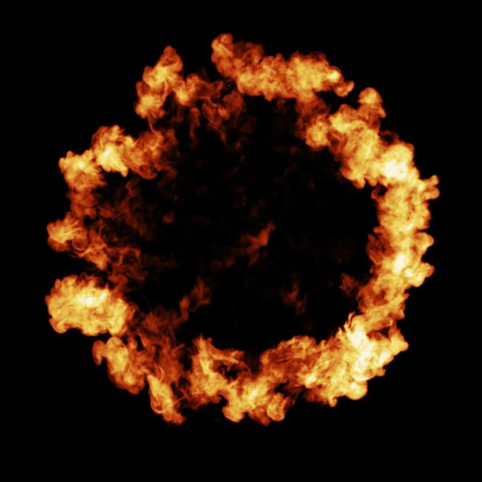conception d'explosion d'onde de choc d'incendie photo