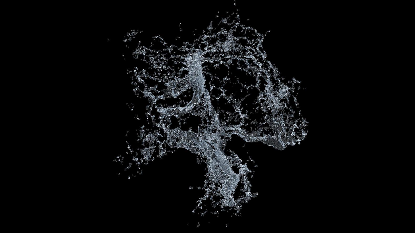 éclaboussure d'eau sur fond noir photo