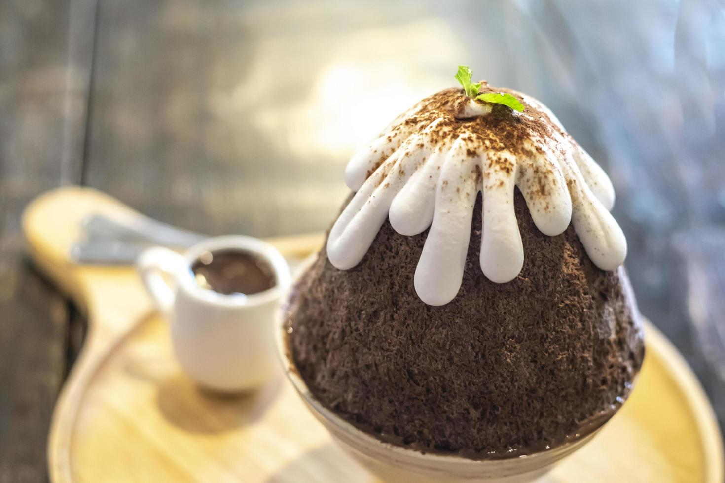 dessert bingsu au chocolat photo