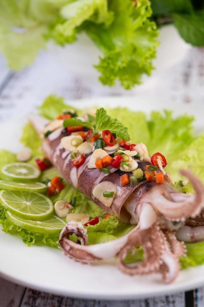 calamars épicés au citron photo