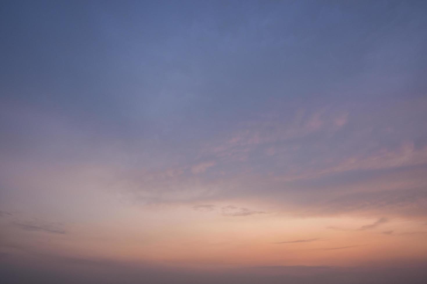 le ciel au coucher du soleil photo