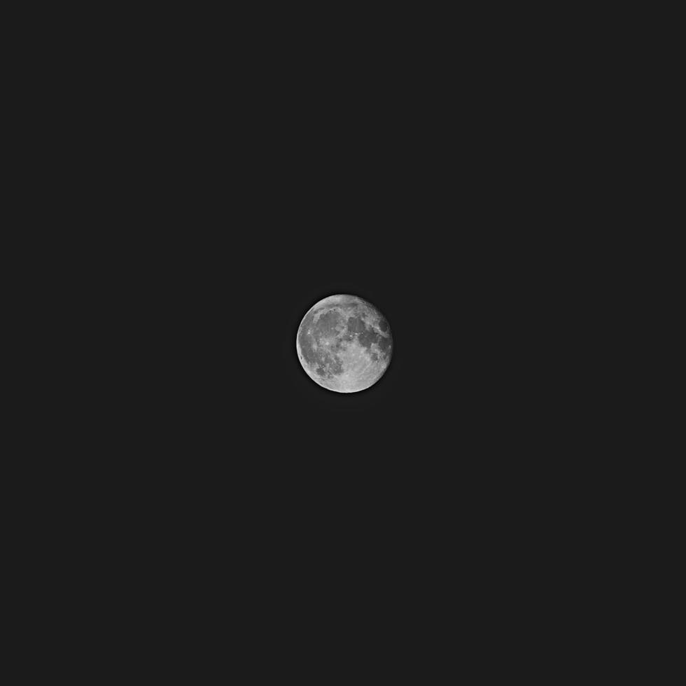 noir et blanc de la lune photo