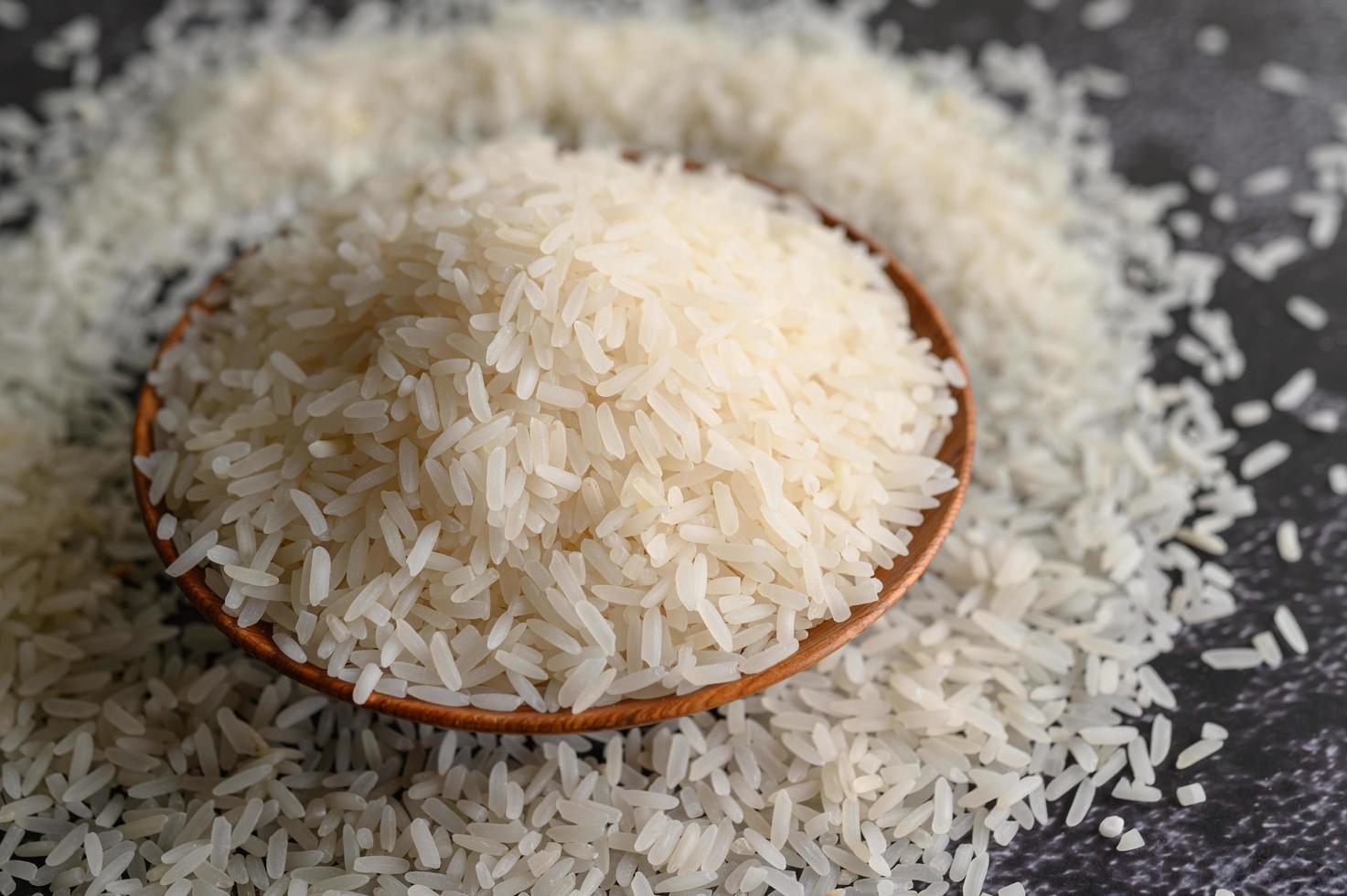 gros plan, de, riz blanchi, dans, bols photo