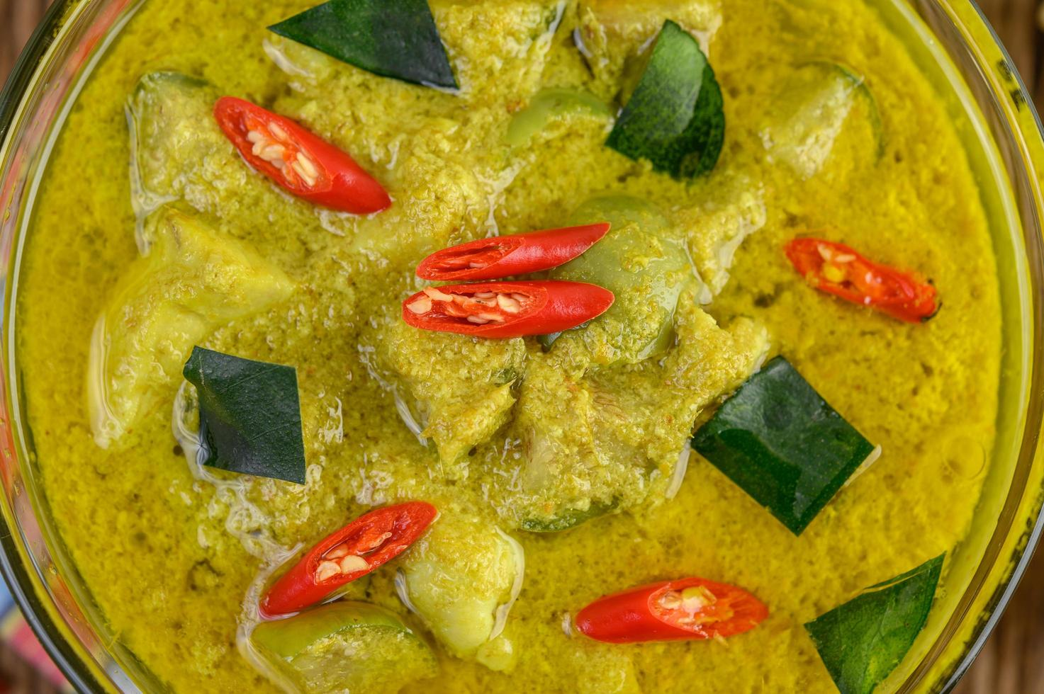 gros plan, de, curry vert photo