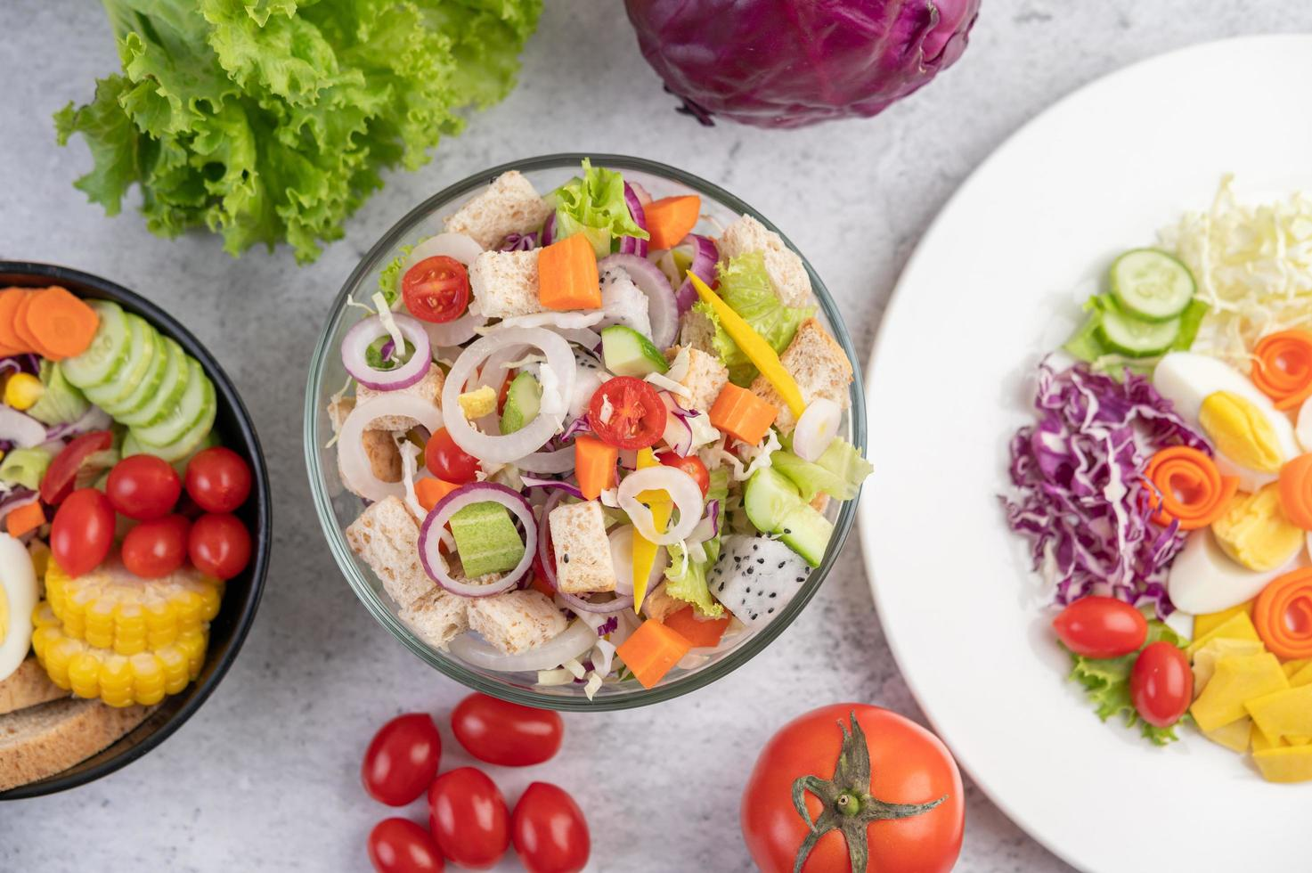 une salade aux légumes photo