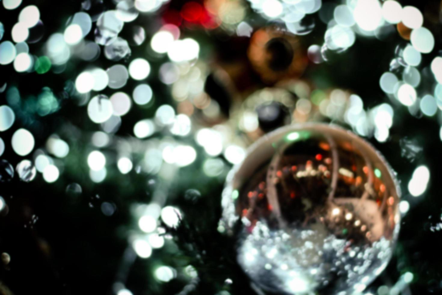 fond de flou de lumières de noël photo
