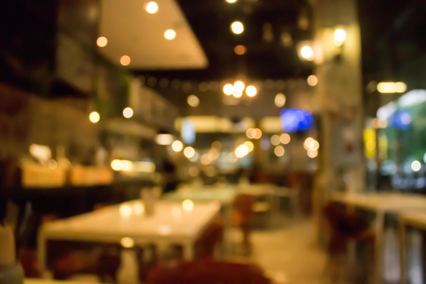 scène de restaurant floue photo