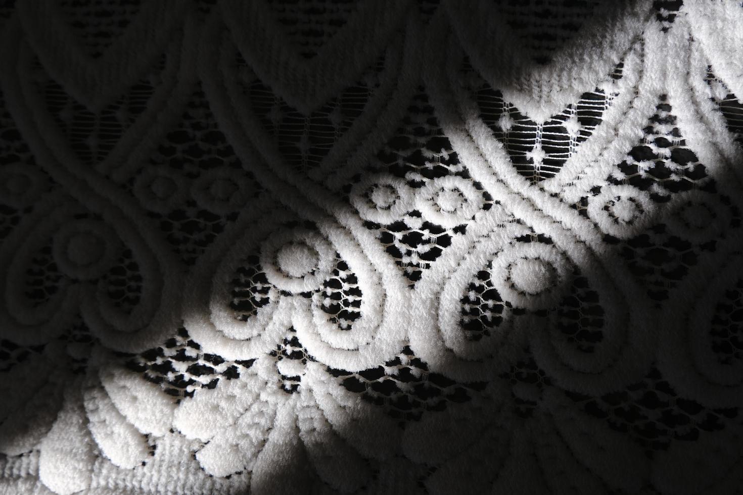 nappe à motif de dentelle avec une ombre photo
