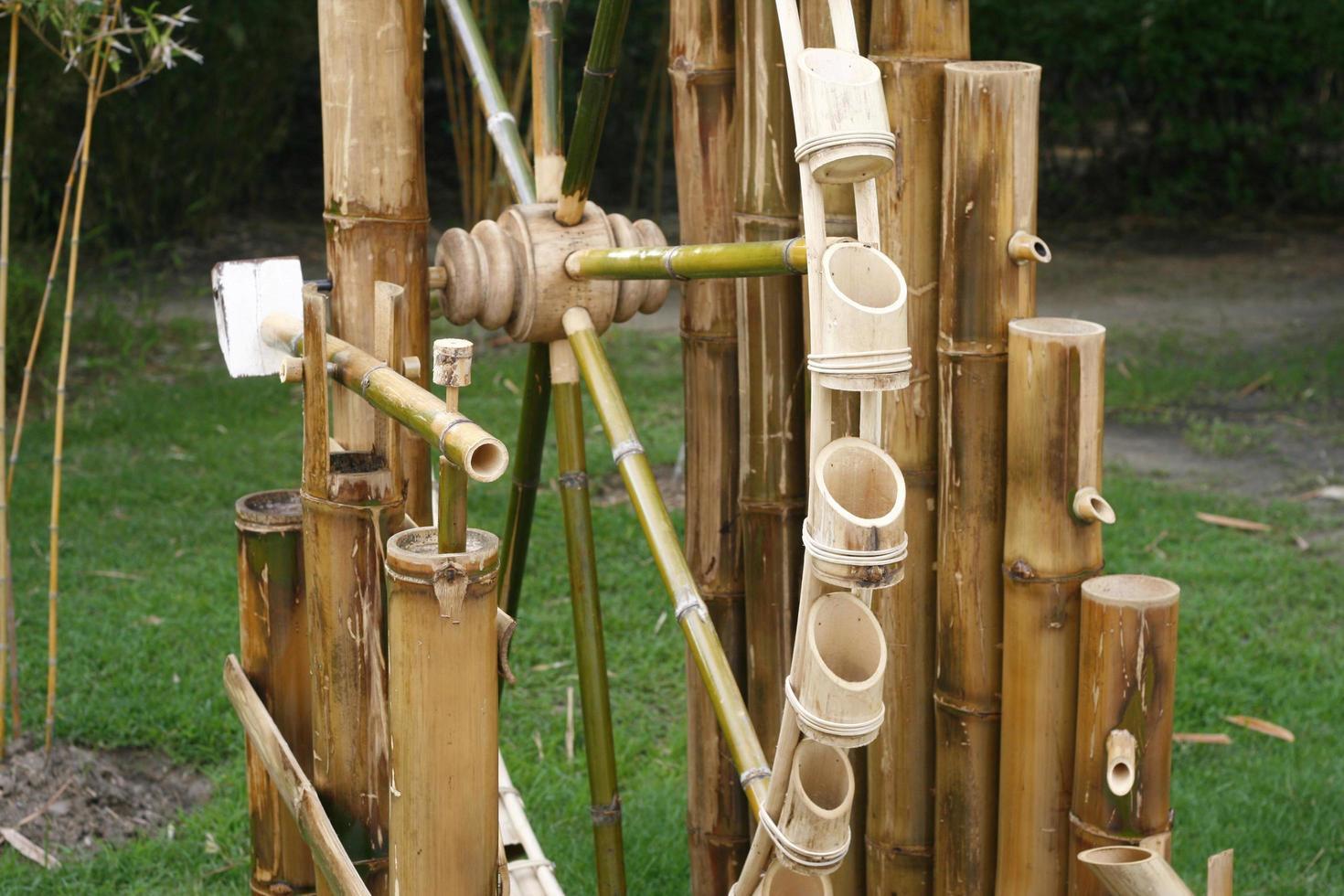 pièce d'eau en bambou photo