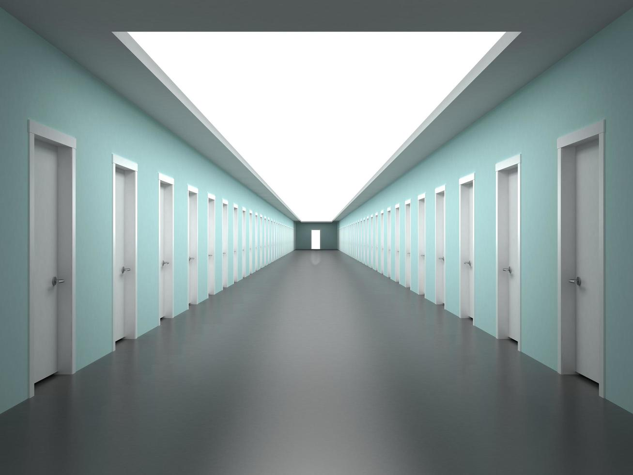 couloirs interminables du bâtiment photo