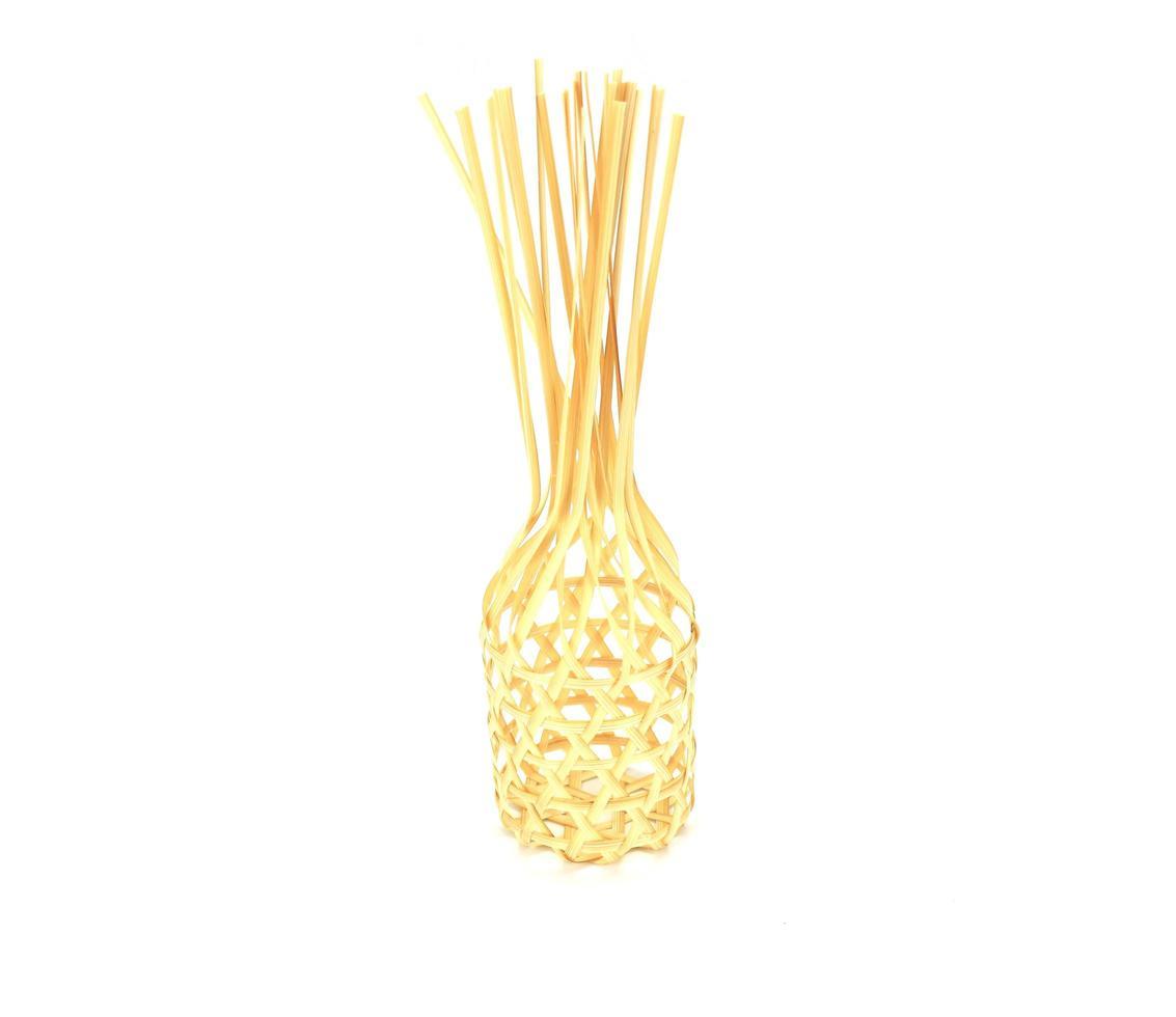 panier en bambou en osier photo