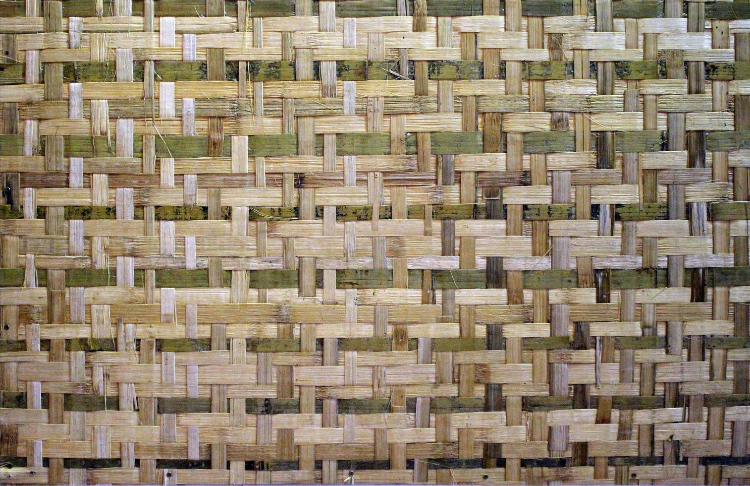 texture de bambou tissé photo