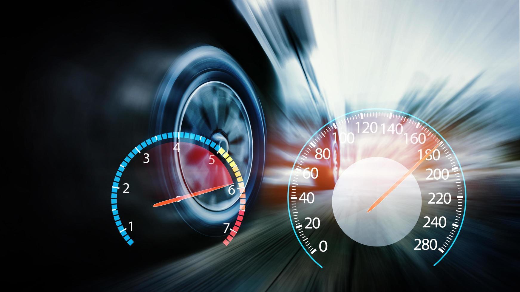 voiture avec compteur de vitesse photo