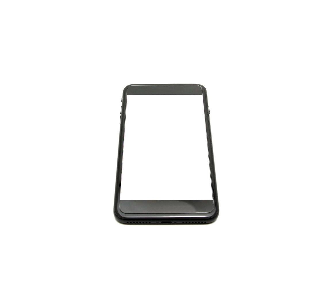 téléphone sur maquette blanche photo