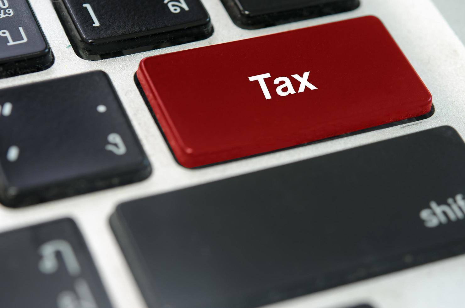 bouton de taxe sur un clavier photo