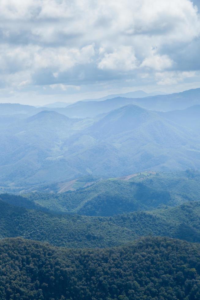 montagnes, forêt et ciel photo
