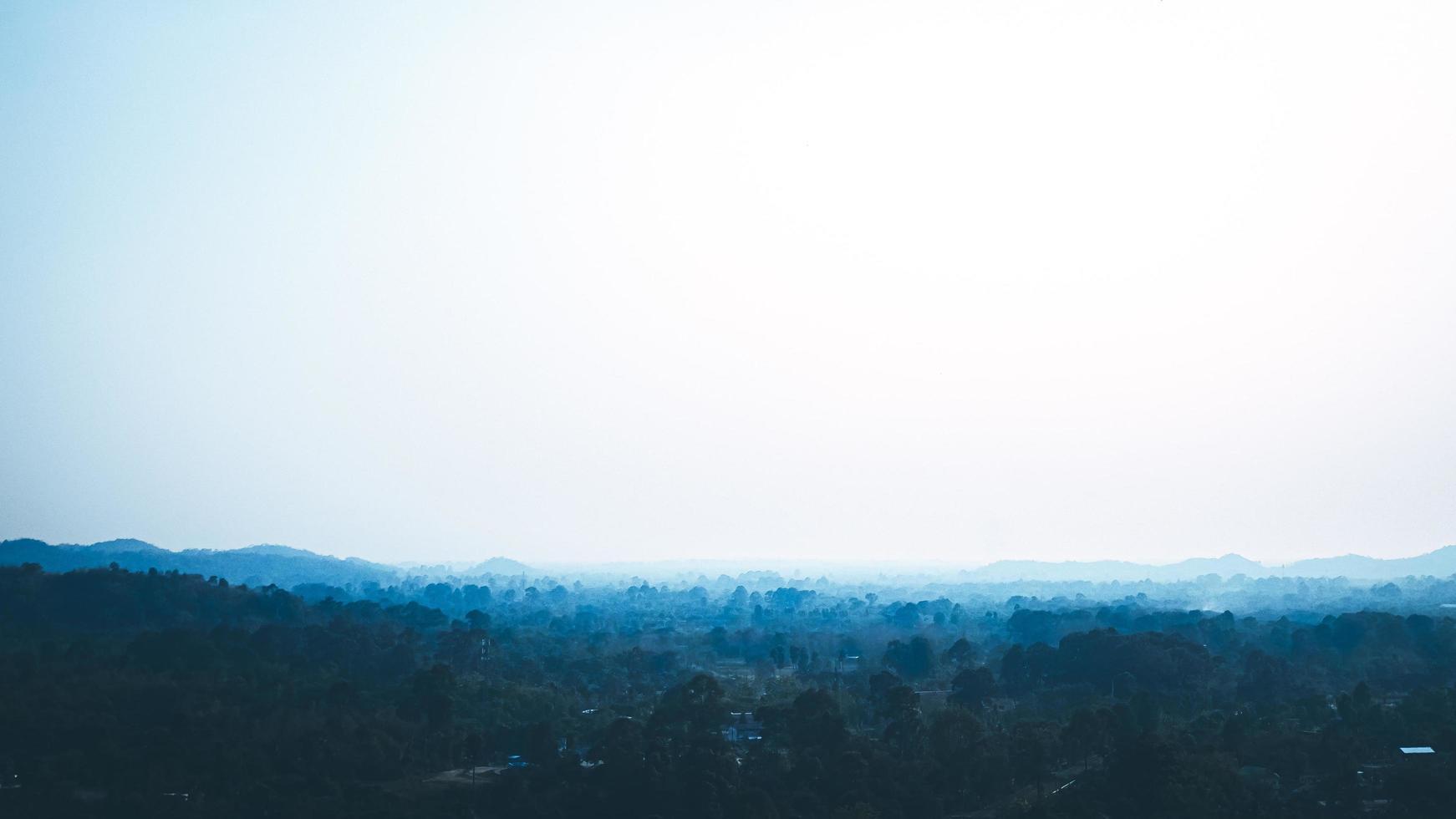 matin bleu dans le sud de la thaïlande photo