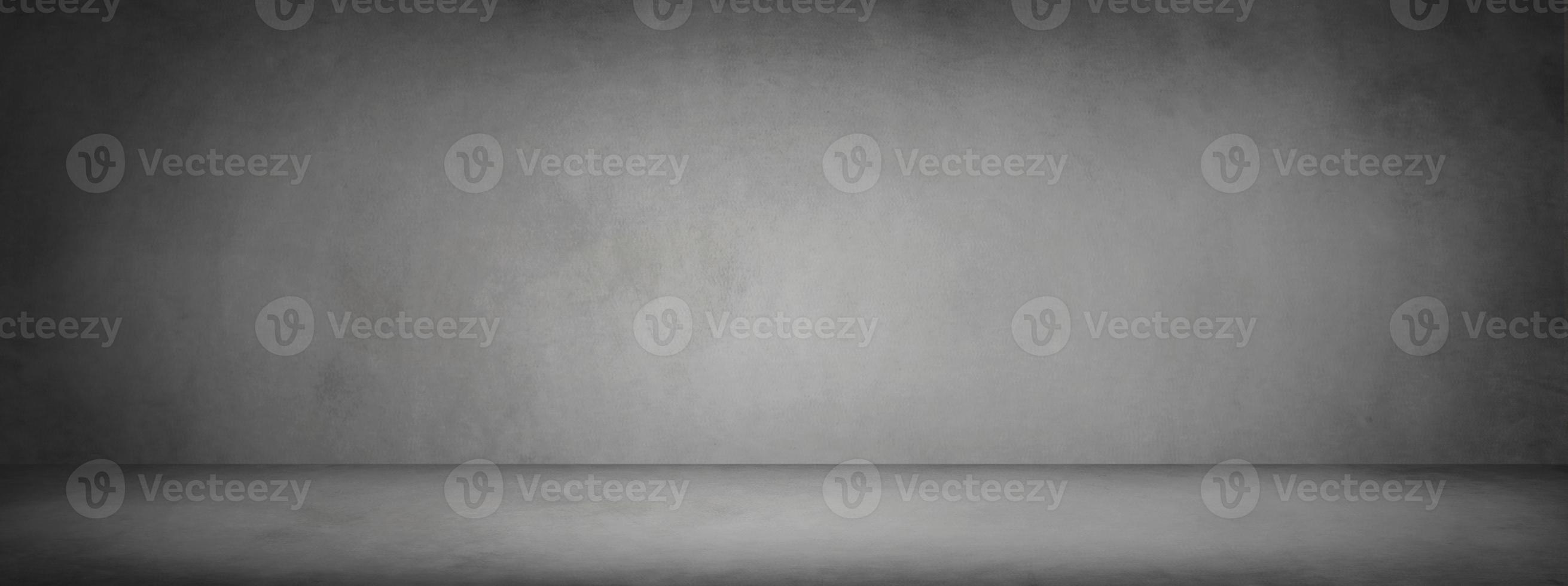 bannière de chambre studio noir et gris foncé photo
