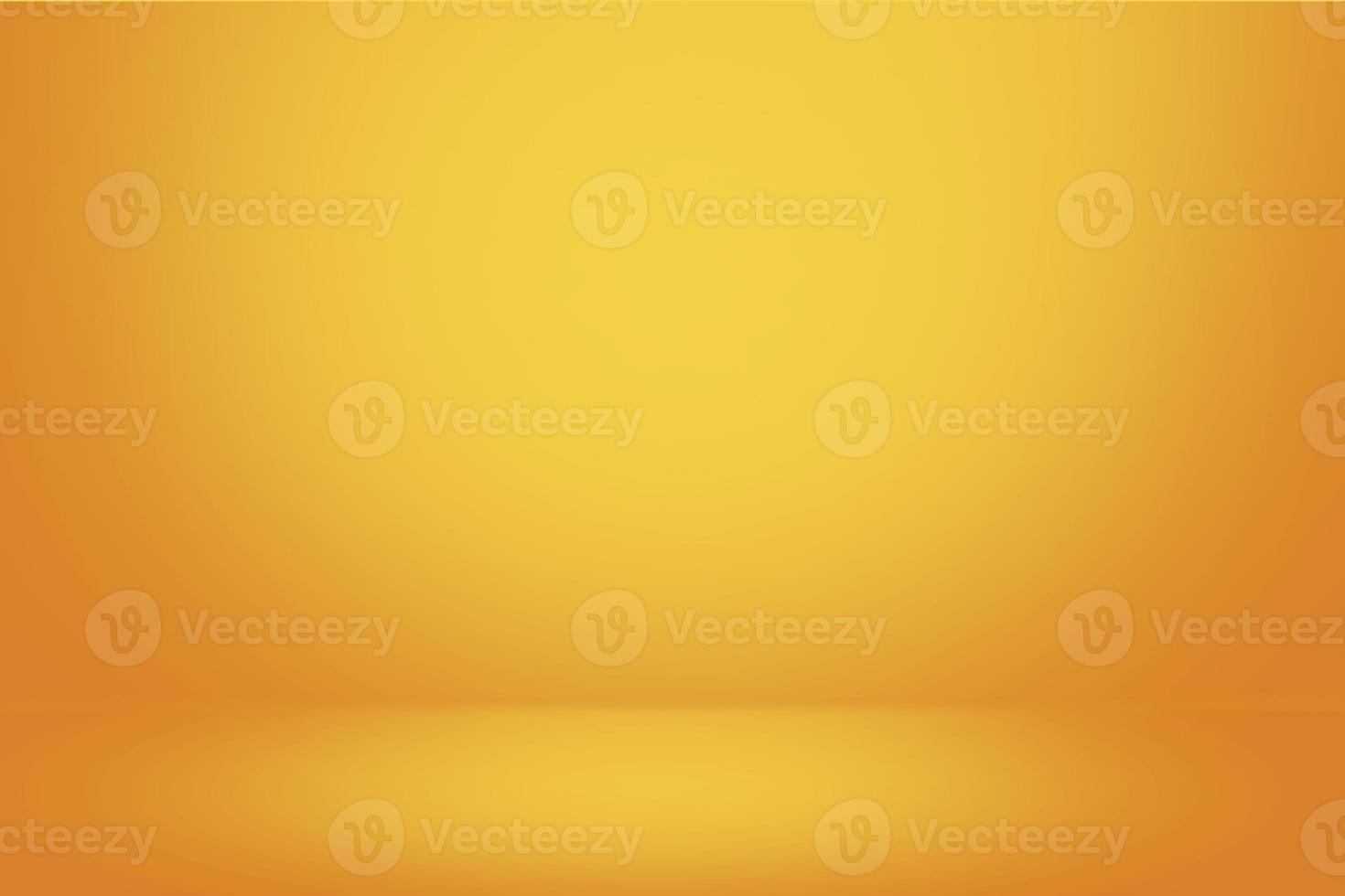 mur dégradé jaune et fond de salle de studio vide photo