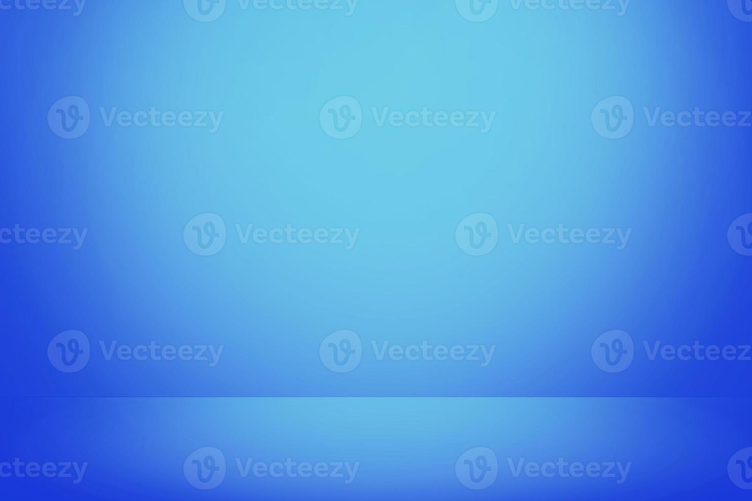 fond de bannière de mur dégradé bleu doux, salle de studio vide photo