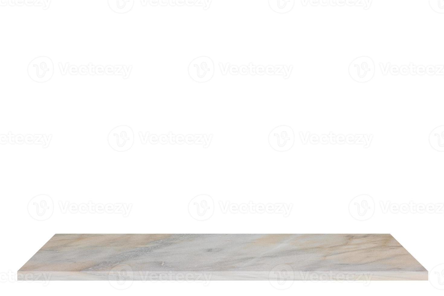 marbre blanc sur fond blanc photo