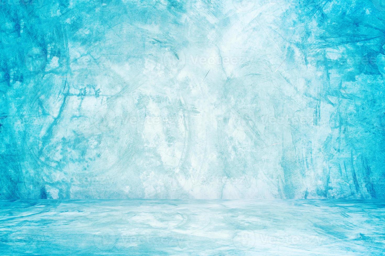 murs de studio bleus photo