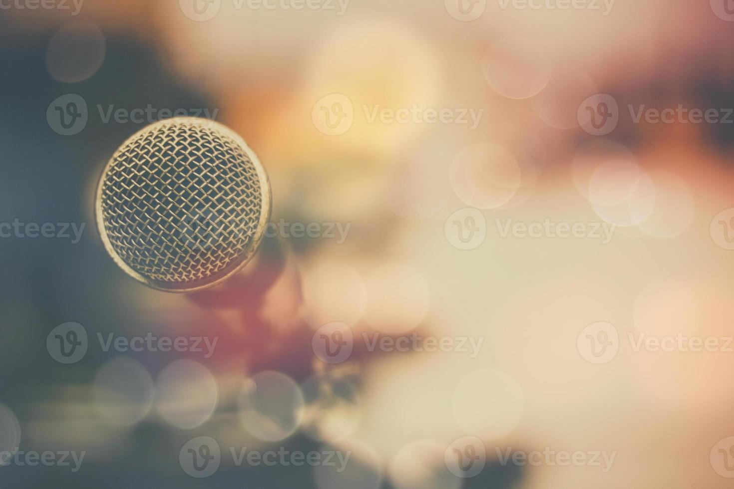 fond de microphone et bokeh photo