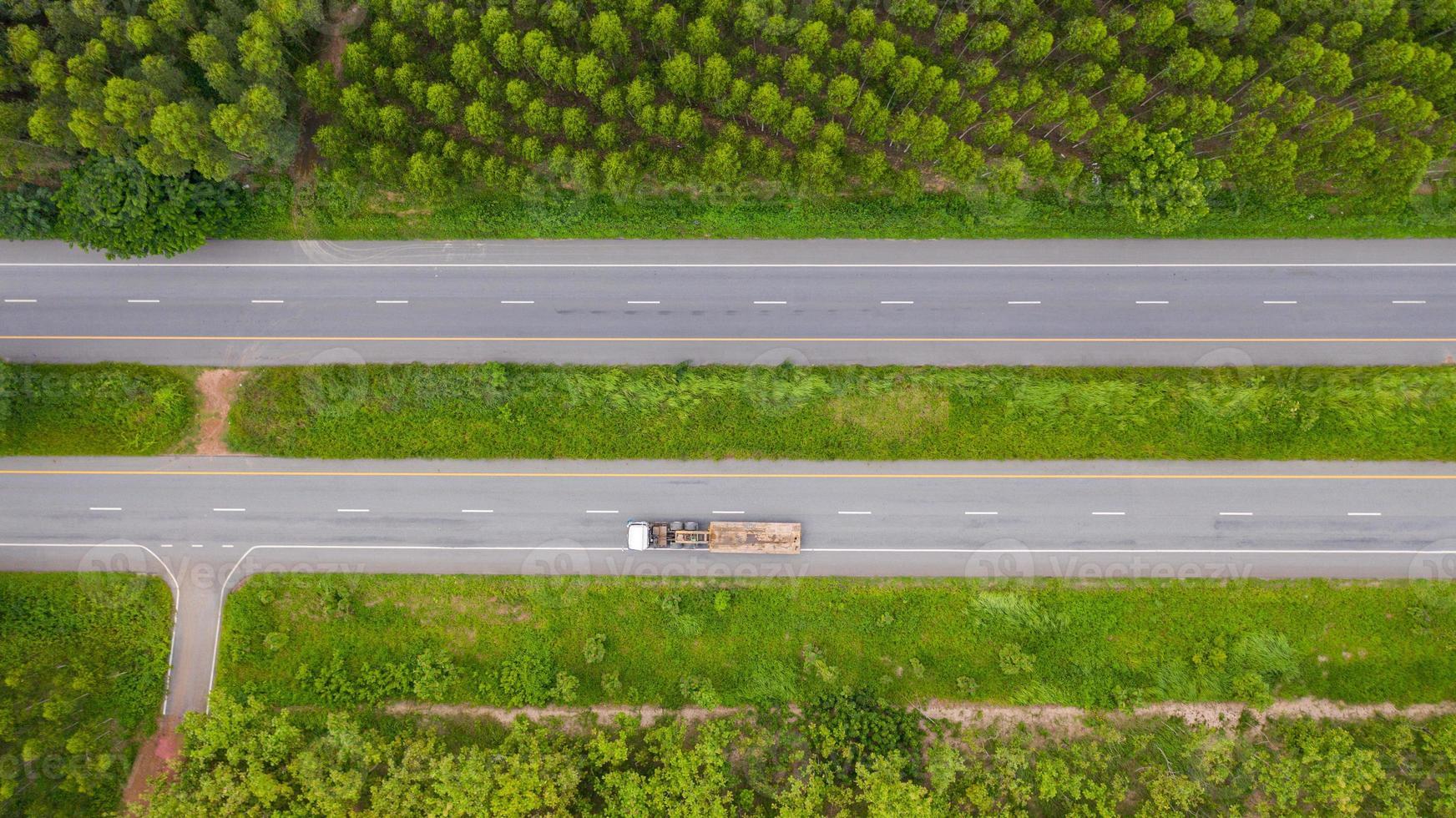 vue aérienne d'une route photo